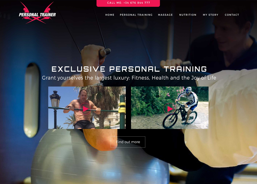 Personal trainer website marbella